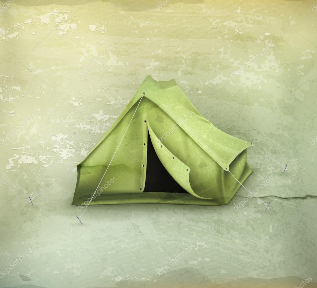 Tent old-style vector u2014 Vector by natis76 & Tent old-style vector u2014 Stock Vector © natis76 #23280650