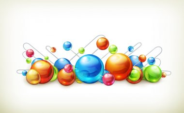 Molecules and atoms, vector illustration