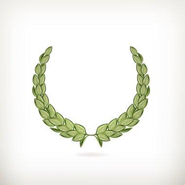 Laurel wreath, green vector