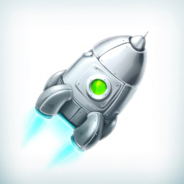 Spacecraft, vector icon