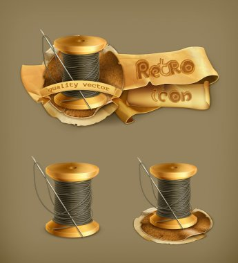 Spool of thread, vector icon