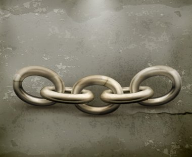 Chain, old style vector