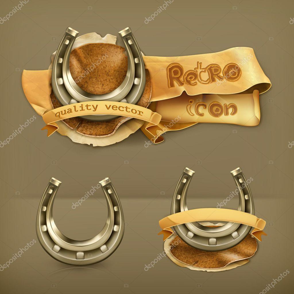 Lucky horseshoe, vector icon