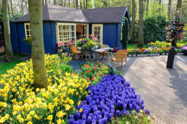 Flower shop in Keukenhof Gardens, Lisse, Netherlands