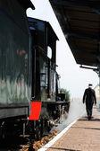 Fotografie historický parní vlak lokomotiva
