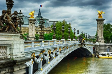 Beautiful bridge of Alexandre III in Paris