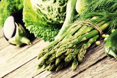 Fresh green vegetables
