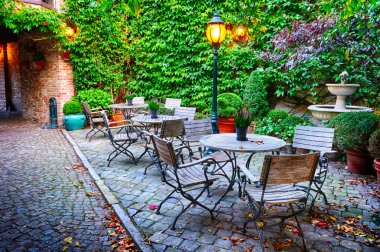 Cosy cafe terrace in Bruges