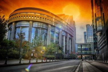 European Parliament building. Brussels, Belgium