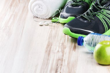 Sport shoes and fitness accessories