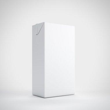 Medium white milk carton package