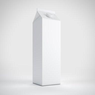 Big white milk carton package