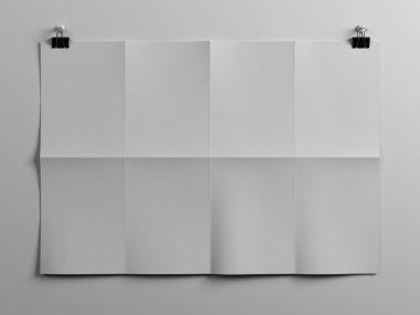 Horizontal paper sheet poster stock vector