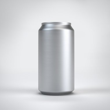White can on the white background