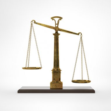 Gold classic scales of justice
