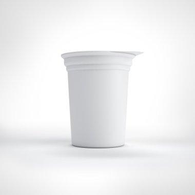 Big white food plastic container