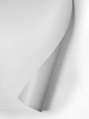 White curled corner