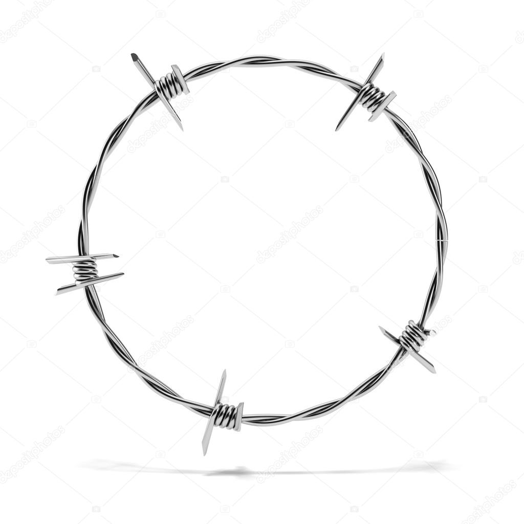Barbed wire circle — Stock Photo © ekostsov #15797157