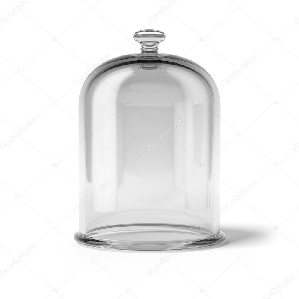 Glass bell isolated on white background