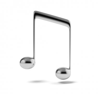 Silver music note