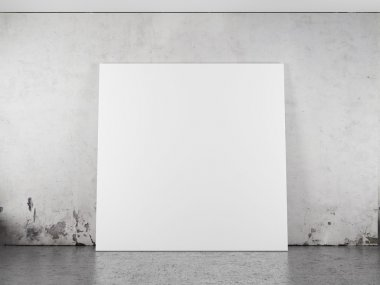 White blank frame against the wall