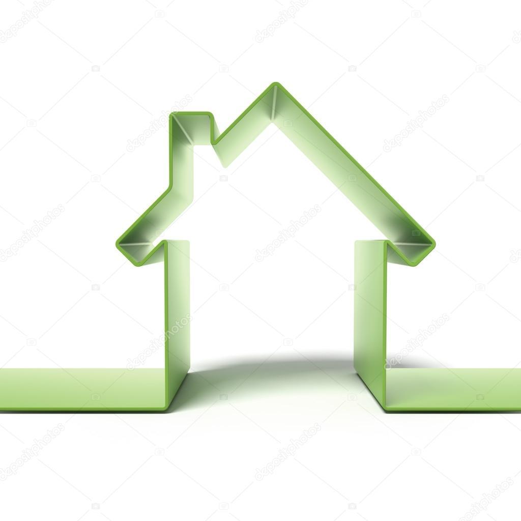 green eco house concept stock photo ekostsov 17392439. Black Bedroom Furniture Sets. Home Design Ideas