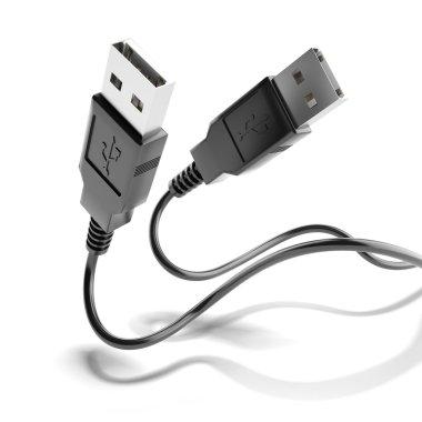 Two black usb plugs