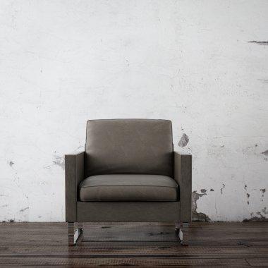 Armchair in empty room
