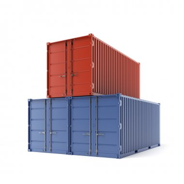 Three freight containers