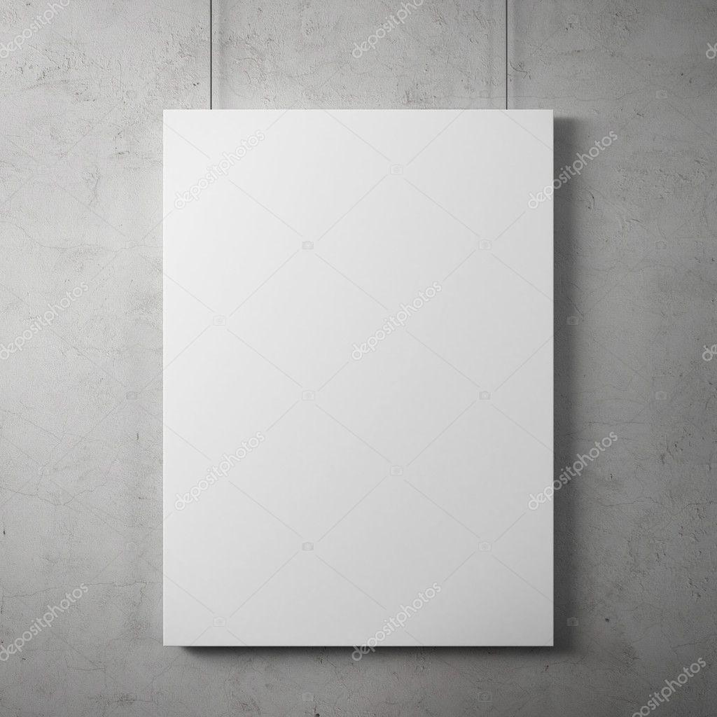 Blank billboard on the wall stock vector