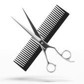 Fotografie Scissors and Comb