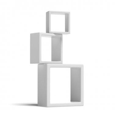 White box shelves