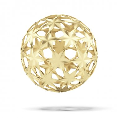 Abstract gold ball