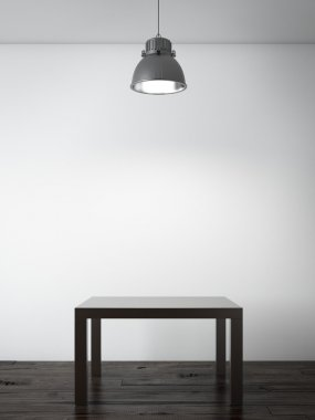 Small table in interior
