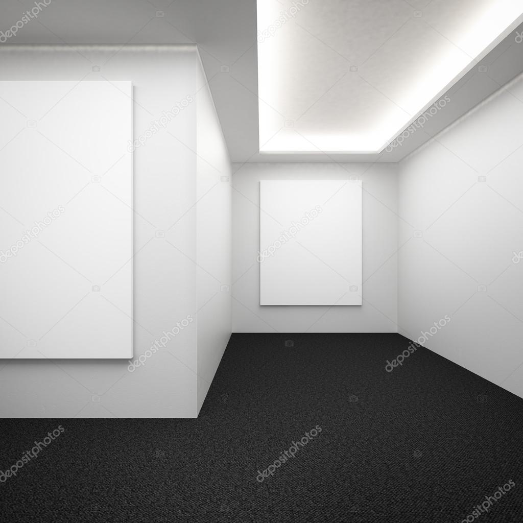 Galerie interieur met donkere vloer — Stockfoto © ekostsov #30040195