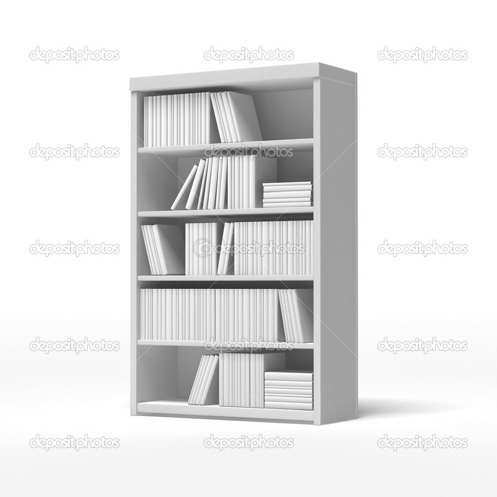 Liebenswert Weißes Bücherregal Beste Wahl Weiße Bücherregale — Stockfoto