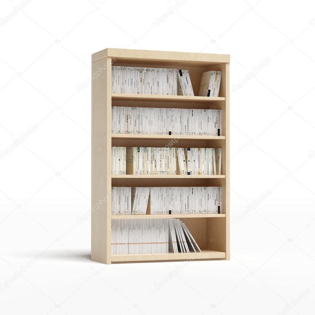 Gewaltig Weißes Bücherregal Das Beste Von Weißes Bücherregal Mit Büchern — Stockfoto