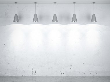 Five lamps in interior