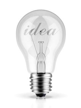 Bulb with the word idea