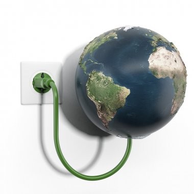 Earth attached to electrical socket