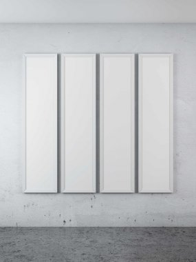 Four blank posters