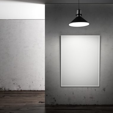 Gallery with blank frame