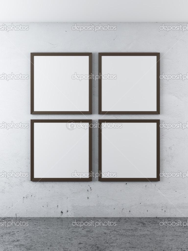 Four frames on a concrete wall — Stock Photo © ekostsov #34900497