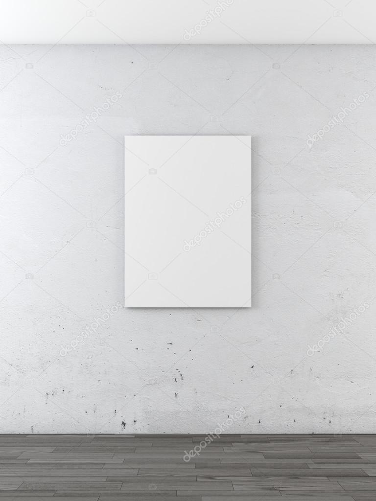 Blank frame on a white wall — Stock Photo © ekostsov #34901363