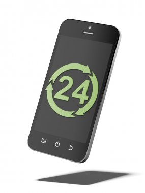 Smart phone with all-day symbol