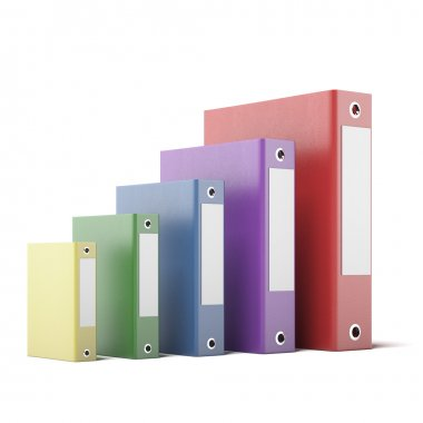 Colorful Folders with Documents