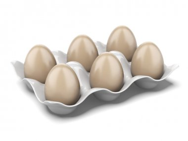 Modern egg box isolated on a white background. 3d render stock vector