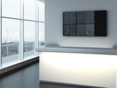 Glowing office reception