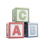 Fotografie ABC building blocks