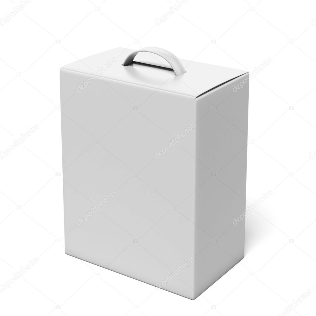 White package with a handle